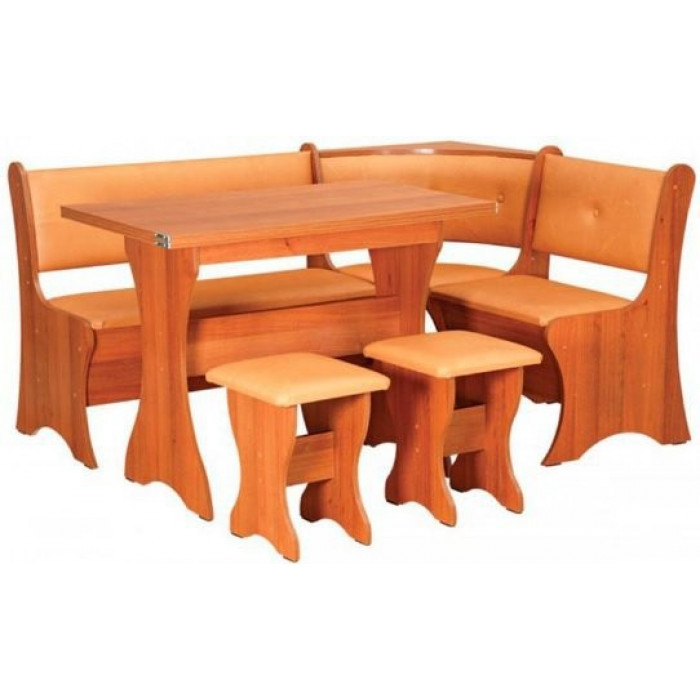Кухонный уголок Маркиз со столом и табуретами Пехотин