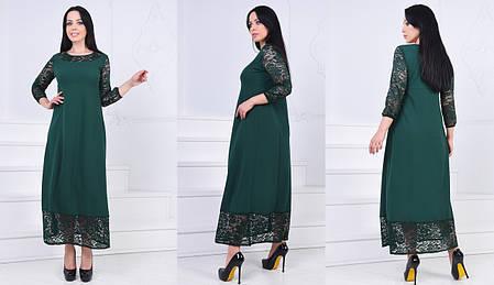 Платье в пол гипюр БАТАЛ  757015, фото 2