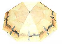 Женский автоматический зонт AVK 178-5 желтый антиветер