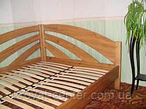 """Деревянная угловая кровать """"Радуга"""" (200*140), массив - ольха, покрытие - """"лак""""."""