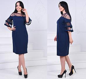 Платье вставка сетка БАТАЛ  757021, фото 2