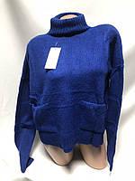 Красивый свитер с высокой горловиной 44-48