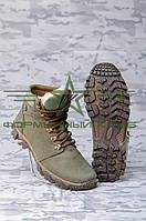 Ботинки зимние Энерджи кожа олива набивной мех