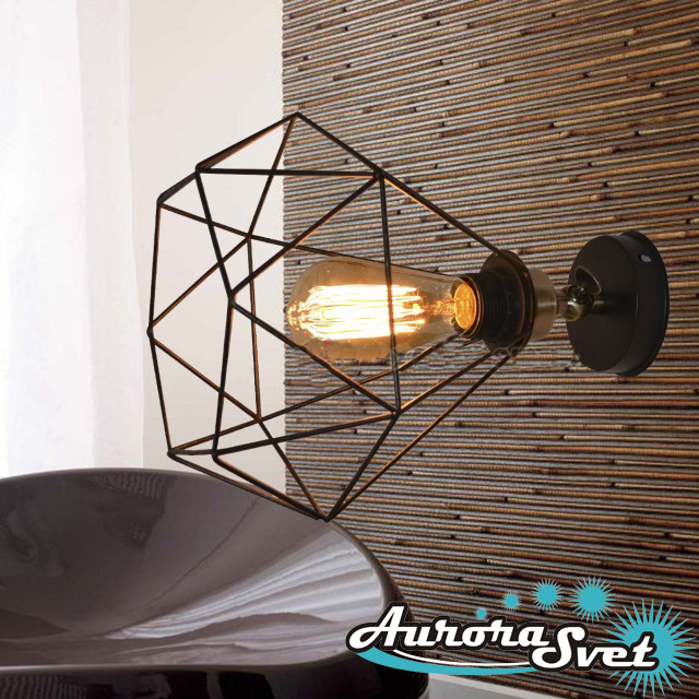 Бра настенная AuroraSvet loft 9900 чёрная.LED светильник бра. Светодиодный светильник бра., фото 1