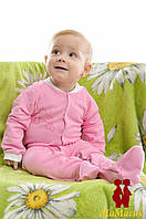Человечек для новорожденного с принтом (футер)