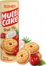Печенье-сэндвич Roshen Multicake с начинкой вишня-кокос 195 г