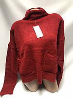 Красивый свитер с большими карманами  44-48