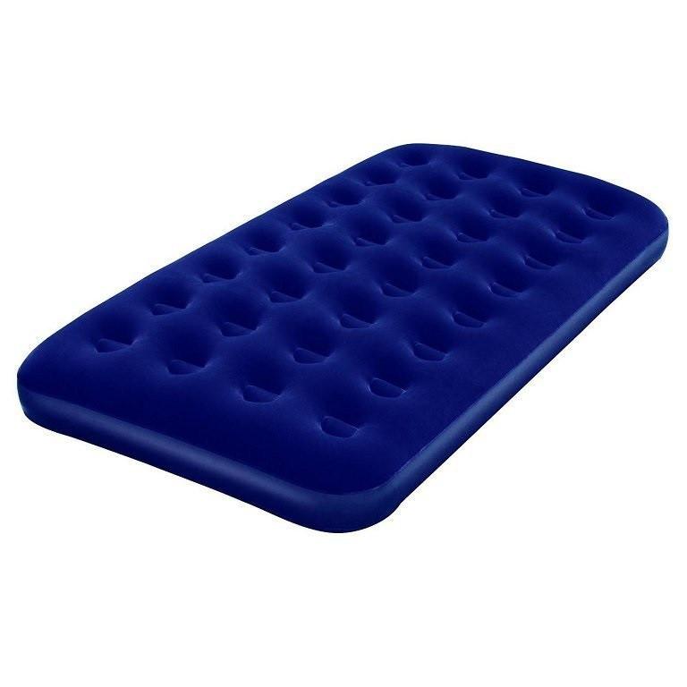 Велюровий одномісний надувний матрац BestWay 67001 синій 188-99-22 см