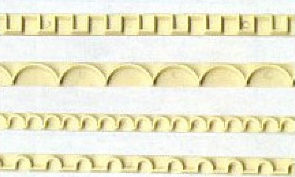 """Вырубки для мастики """"обороки квадратные"""" 4шт Галетте  - 00259"""
