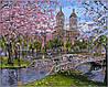Раскраска по номерам Весна в парке худ Финале, Роберт (VP296) 40х50 см
