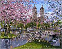 Раскраска по номерам Весна в парке худ Финале, Роберт (VP296) 40х50 см, фото 1
