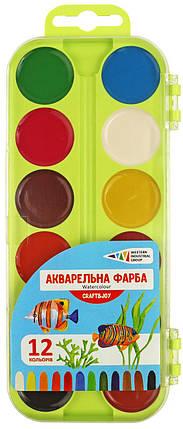 Краски акварельные ГАММА-Н Craft&Joy 312046/Cr-1101, 12 цветов, б/кист., фото 2