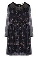 Платье с полупрозрачной отделкой и стразами Twinset оригинал
