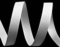 Репсовая лента  белая 7 мм
