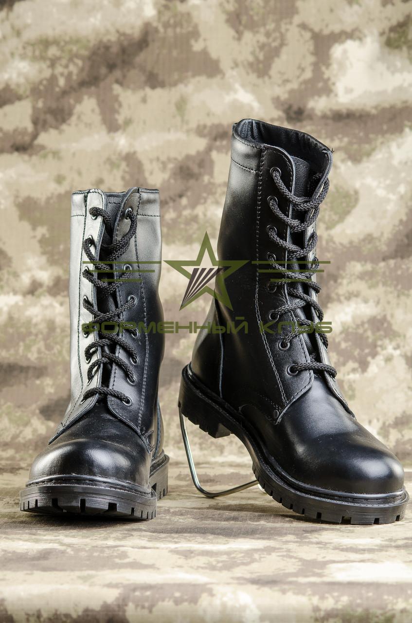 Берцы НАТО ХРОМ кожаные черные