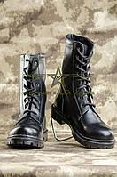 Берцы НАТО ХРОМ кожаные черные, фото 1