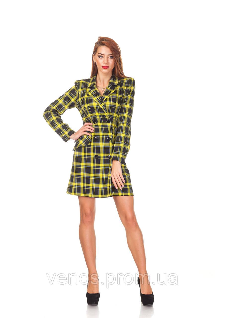 Модное женское платье-пиджак . П129