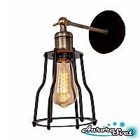 Бра настенная AuroraSvet loft 10100 чёрная.LED светильник бра. Светодиодный светильник бра.