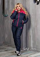 Костюм зимний спортивный женский nike найк на синтепоне и овчине больших размеров 50 52 54
