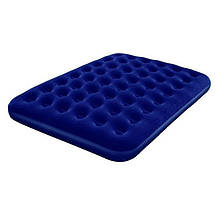 Двомісний надувний велюровий матрац 67003 синій 203-152-22 см