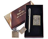 Подарочный набор 2 в 1 Бензиновая Зажигалка и ручка