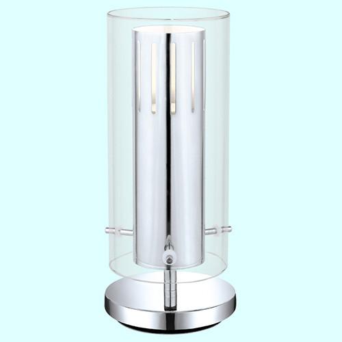 Настольная лампа 93163 EGLO Pinto 2 1х5Вт GU10 прозрачный/хром