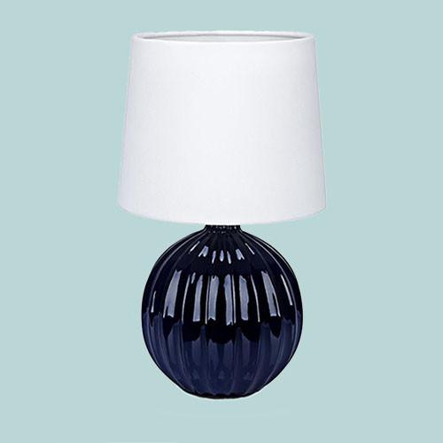 Настольная лампа Markslojd Melanie 106886 1х40Вт E14 синий/керамика