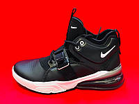 "Кроссовки Nike Air Force 270 ""Black/White"" (Черные/Белые) (реплика А+++ )"