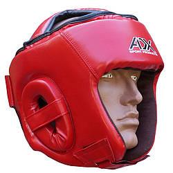 Шлем ADX турнирный красный для таэквон-до ИТФ (материал Flex)