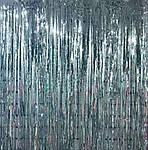 Серебристый дождик для фото-зоны (высота 2м, ширина 1м), двухсторонний, фото 8