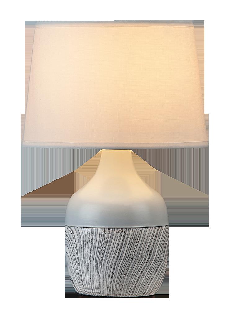 Настольная лампа Rabalux Yvette 4371 1x40Вт E14 LED серый/керамика
