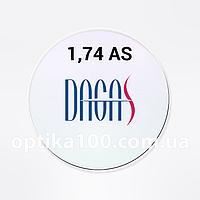 Утонченная асферическая линза Dagas (Корея) 1,74 AS Super-Hydrophobic
