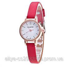 Женские часы HUANS в красном цвете