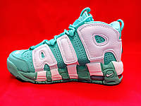 Кроссовки Nike Air More Uptempo 96 Island Green/White (реплика А+++ )