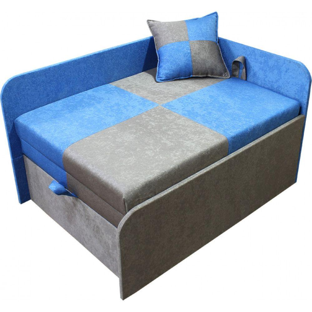 Диван малютка Ribeka Міні 70 см 10M21-Р (права) Синій/сірий