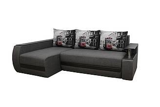 Кутовий диван Garnitur.plus Граф грей 245 см