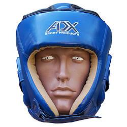 Шлем ADX турнирный синий для  таэквондо ИТФ  (материал Flex)