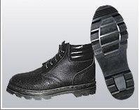 Ботинки юфть/кирза (мягкий кант) ВФ рабочие утепленные (Мех) Бортопрошивные черные