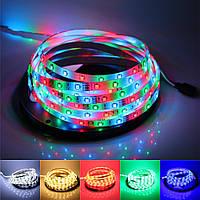 Светодиодная лента LED 3528 RGB комплект 5 метров, разноцветная