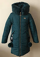 Зимняя куртка/пальто на девочку от 8-12 лет, фото 1