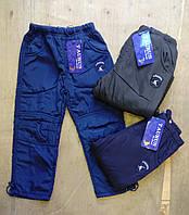 Теплые балоневи брюки для мальчика. Размеры: 98,104,110