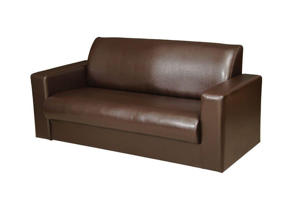 Офисный двухместный диван Премьера Кармен 2 1690х730х790 коричневый
