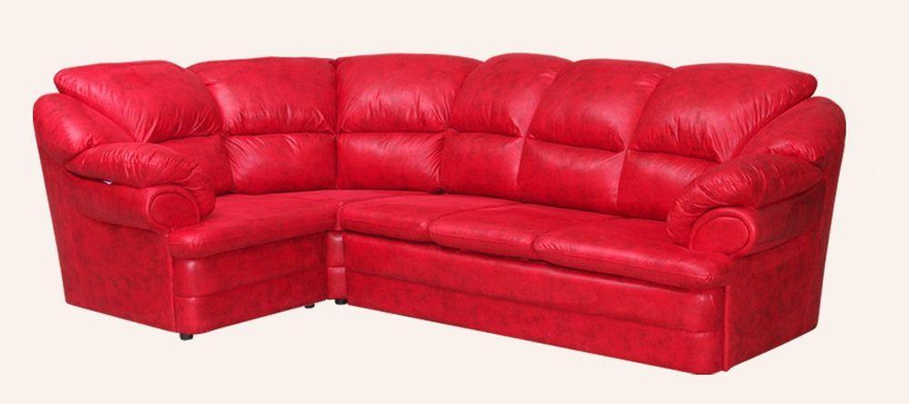 Угловой диван Sky Soft Барон 280 см Красный
