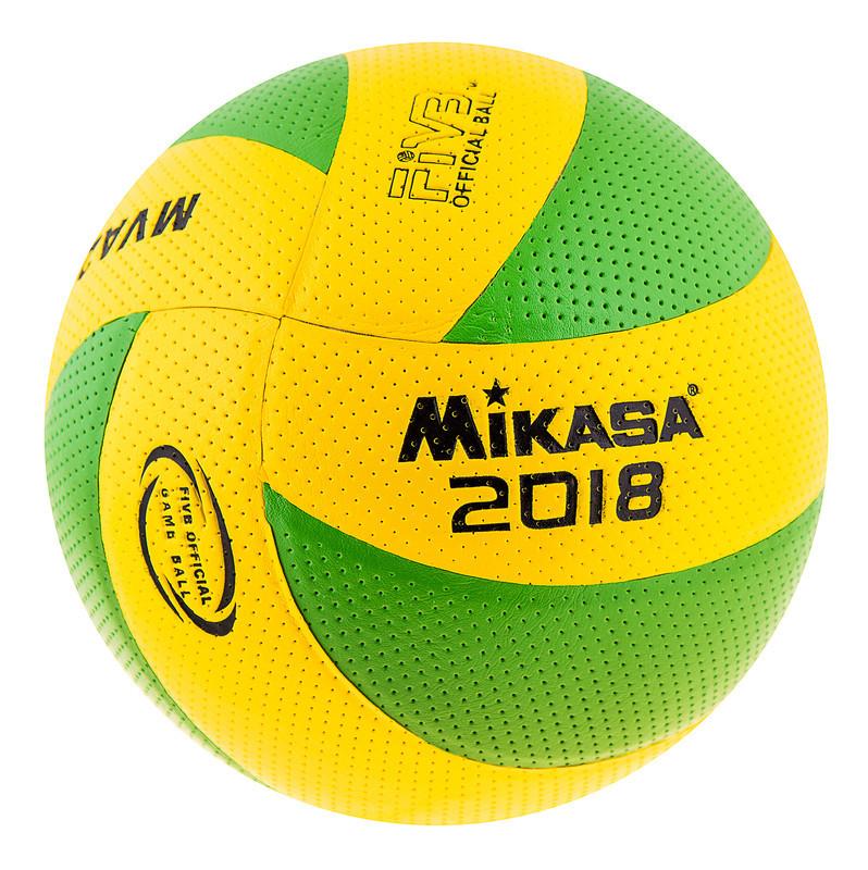 М'яч волейбольний Клеєний дублікат PVC Mikasa MVA200-2018G 004 зелений з жовтим