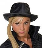 Шляпа Гангстера в полоску черная, фото 2