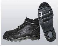 Ботинки юфть/кирза (мягкий кант) ВФ рабочие бортопрошивные черные