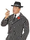 Шляпа Гангстера в полоску черная, фото 5