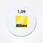 Полікарбонатна японська лінза Nikon Moving (ШАБЛОН). Ударостійка витончена 1,59