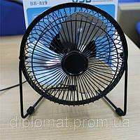 Настольный вентилятор большой 212х107х203мм, Quat usb (металлический корпус, металлические лопасти), фото 1