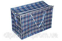 Хозяйственная сумка баул из полипропилена клетка №4 (Клетчатая), фото 1
